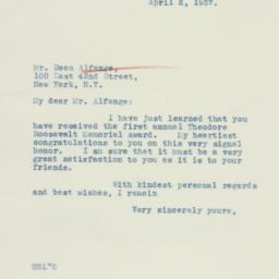 Letter: 1937 April 2