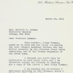 Letter: 1941 March 18