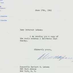 Letter: 1941 June 17