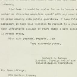 Letter : 1943 January 1