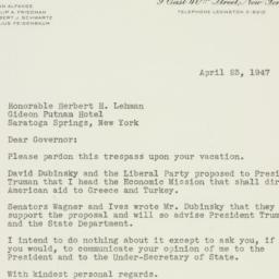 Letter: 1947 April 23