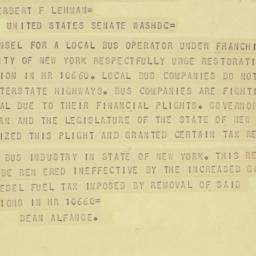 Telegram: 1956 June 1
