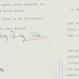Letter: 1936 November 11