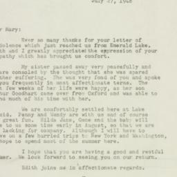 Letter: 1948 July 27