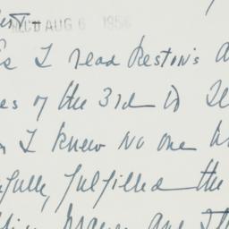 Letter : 1954 August 4