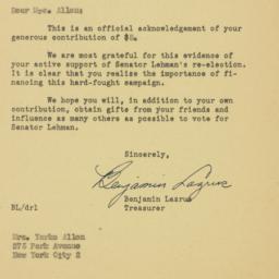 Letter: 1950 October 19
