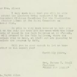 Letter: 1950 October 23