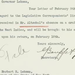 Letter: 1933 February 14