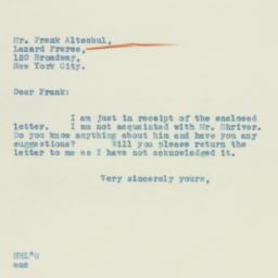 Letter: 1933 April 25