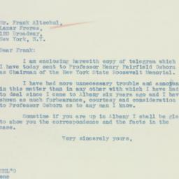 Letter: 1934 May 9