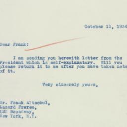 Letter: 1934 October 11