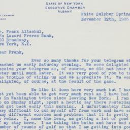 Letter: 1935 November 12