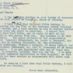 Letter: 1937 December 3