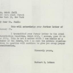 Letter: 1952 January 29