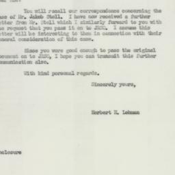 Letter : 1952 January 29