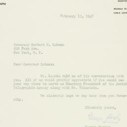 Letter : 1947 February 13