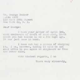 Letter : 1959 April 7