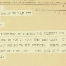 Telegram : 1963 March 28
