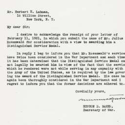 Letter : 1921 February 17