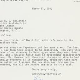 Letter: 1953 March 11