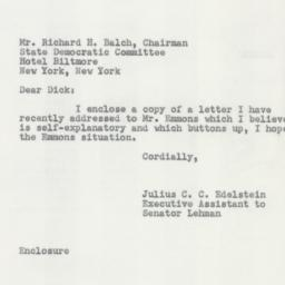 Letter: 1953 March 18