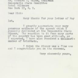 Letter: 1953 May 12