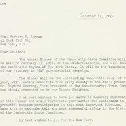 Letter: 1953 December 31