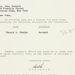 Letter: 1954 April 19