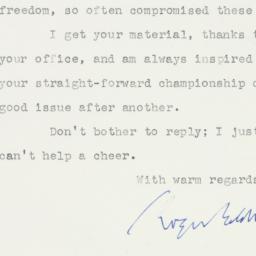 Letter: 1956 June 5