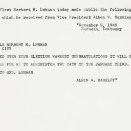 Press release : 1949 Novemb...