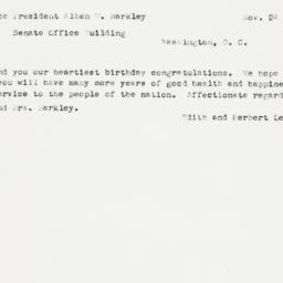 Letter : 1952 November 24