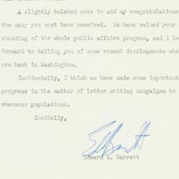 Letter: 1950 November 17