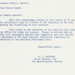 Letter: 1955 February 4