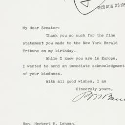 Letter : 1955 August 22