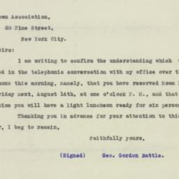 Letter : 1925 August 11