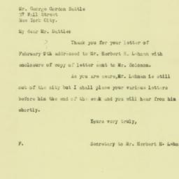 Letter: 1926 February 10