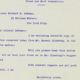 Letter: 1926 February 13