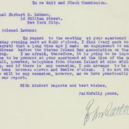 Letter: 1926 April 27