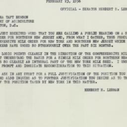 Letter : 1956 February 23