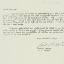 Letter: 1950 May 15