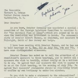 Letter: 1950 June 28