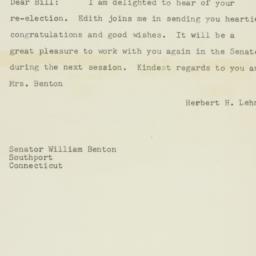 Telegram: 1950 November 8
