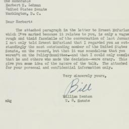 Letter: 1951 March 8