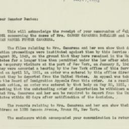 Letter: 1951 July 27