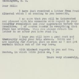 Letter: 1951 October 22