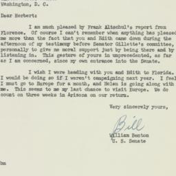 Letter: 1951 October 27