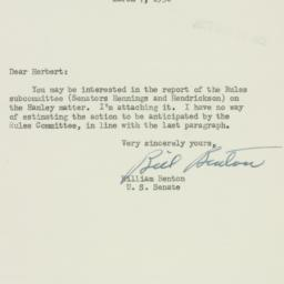 Letter: 1952 March 7