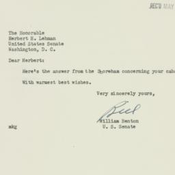 Letter: 1952 April 30