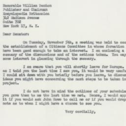 Letter: 1953 November 9