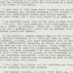 Letter: 1954 February 18